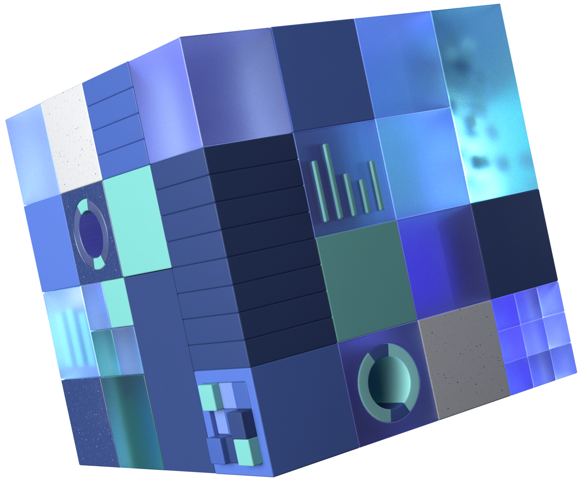 A cube representing the core technology