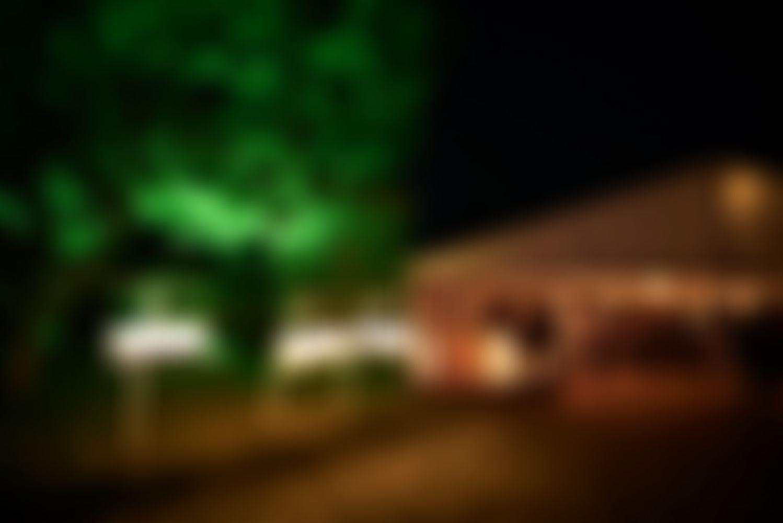 Das Immergut Labelzelt bei Nacht