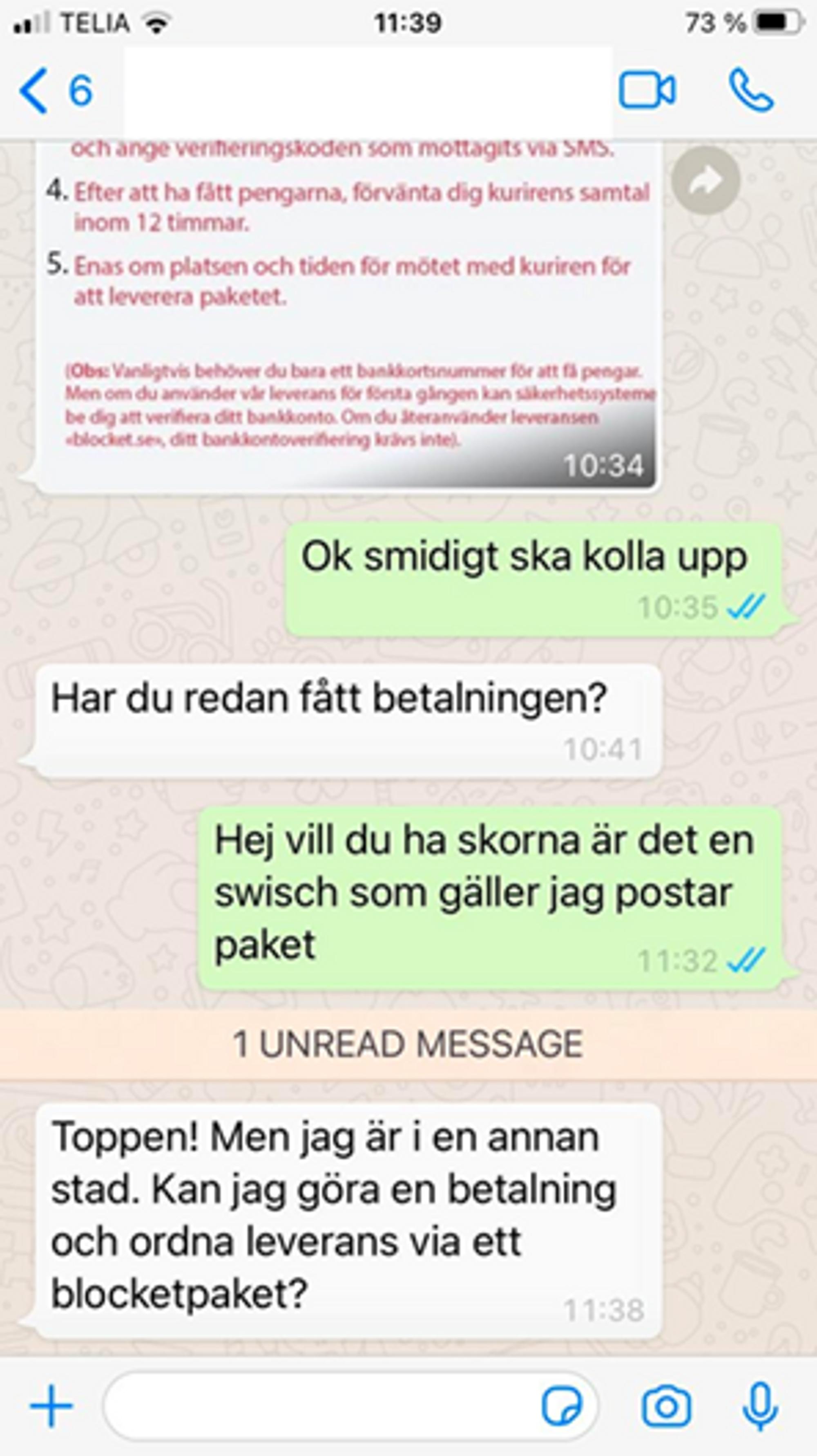 Exempel på konversation