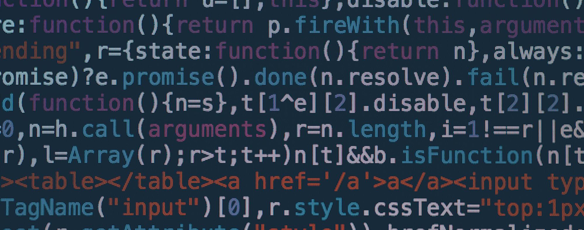 Bild med kod på skärm