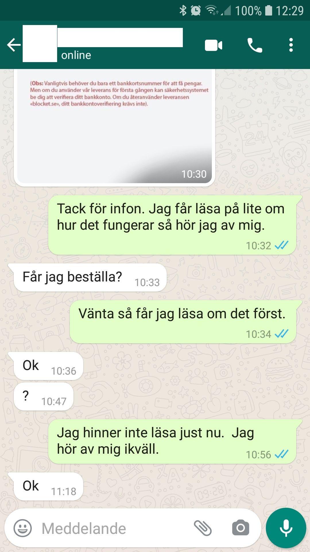 WhatsApp konversation