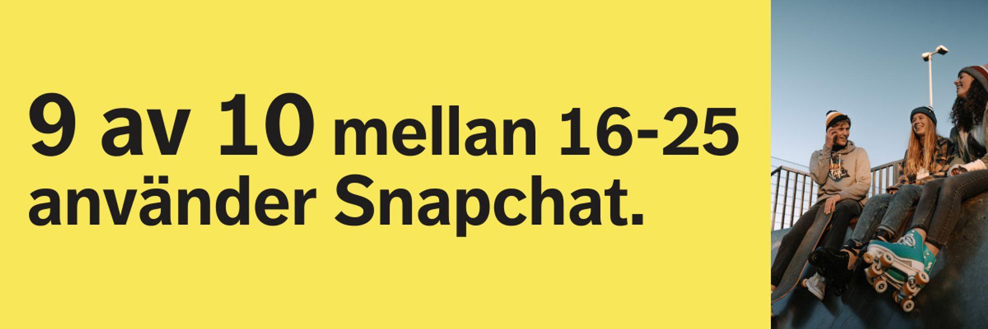 Unga mellan 16 till 25 använder Snapchat