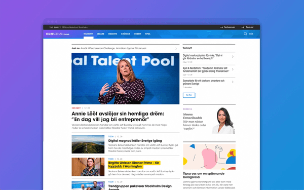 Techarenan website preview
