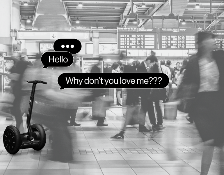 Segway begging for attention