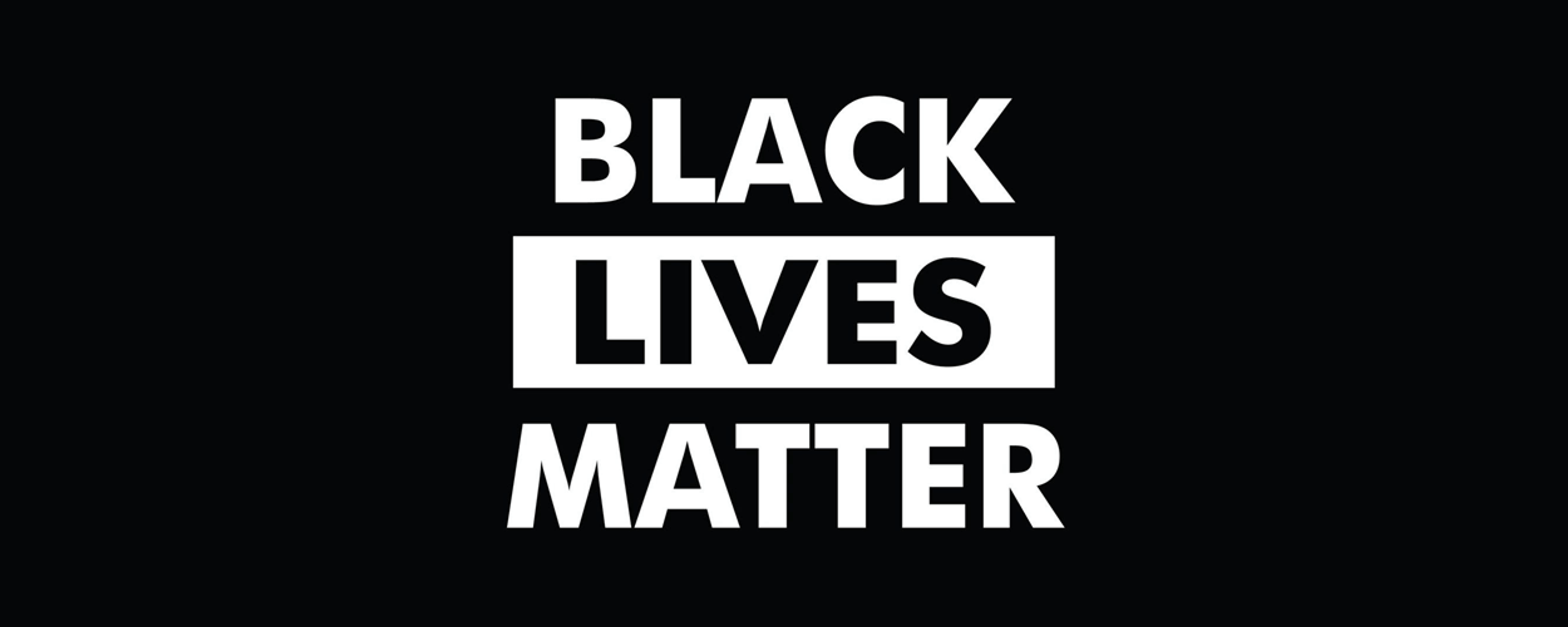 The words Black Lives Matter in all caps