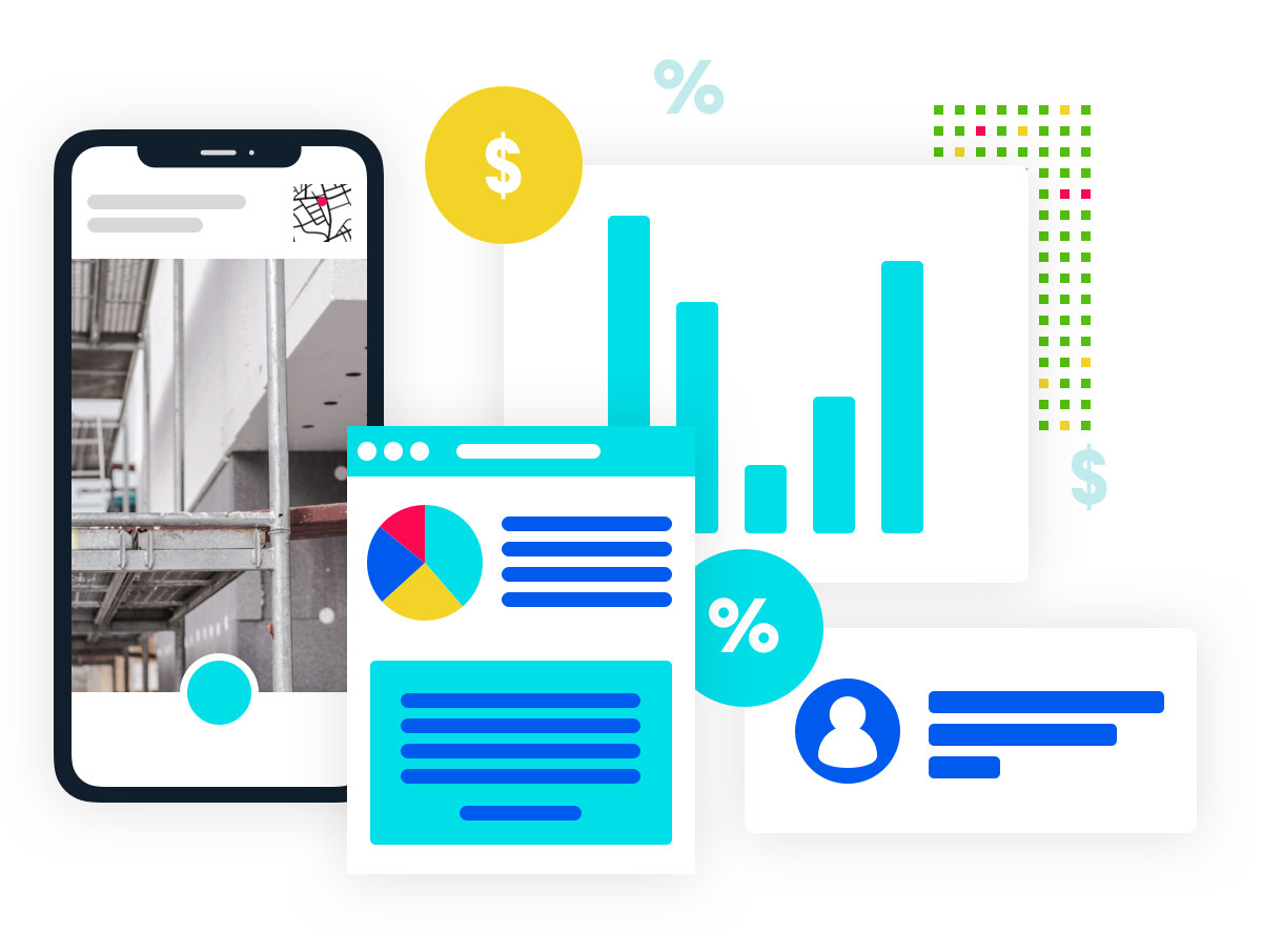 Illustration: Turbo-charge your internal reporting with __real-time data dashboards__