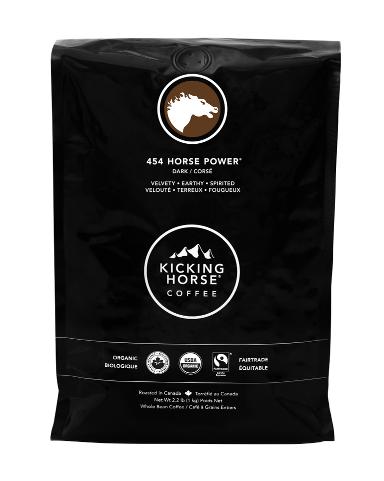 Kicking Horse Coffee - 454 Horse Power - Whole Bean Coffee - 1kg