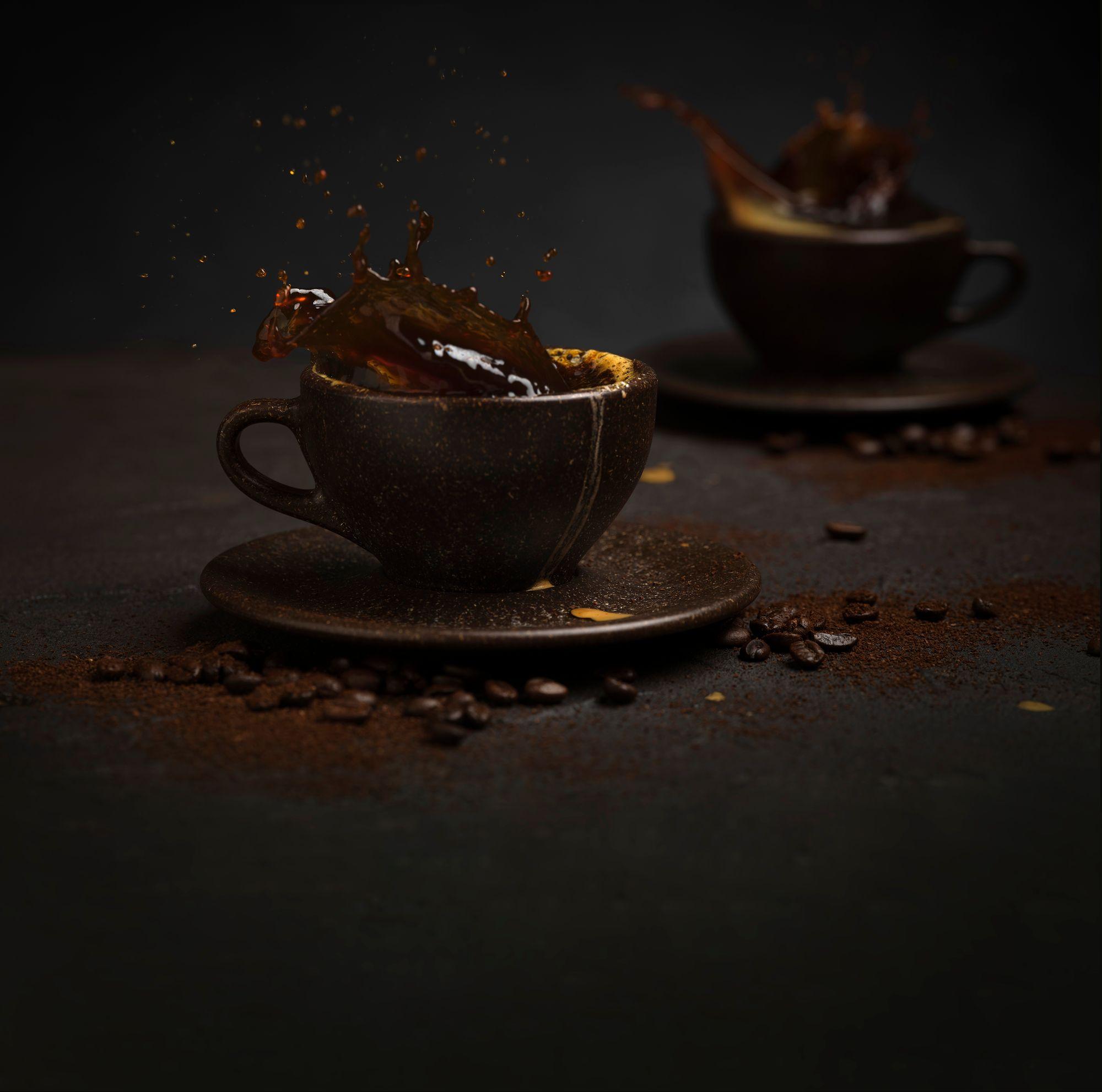 cup of coffee splashing
