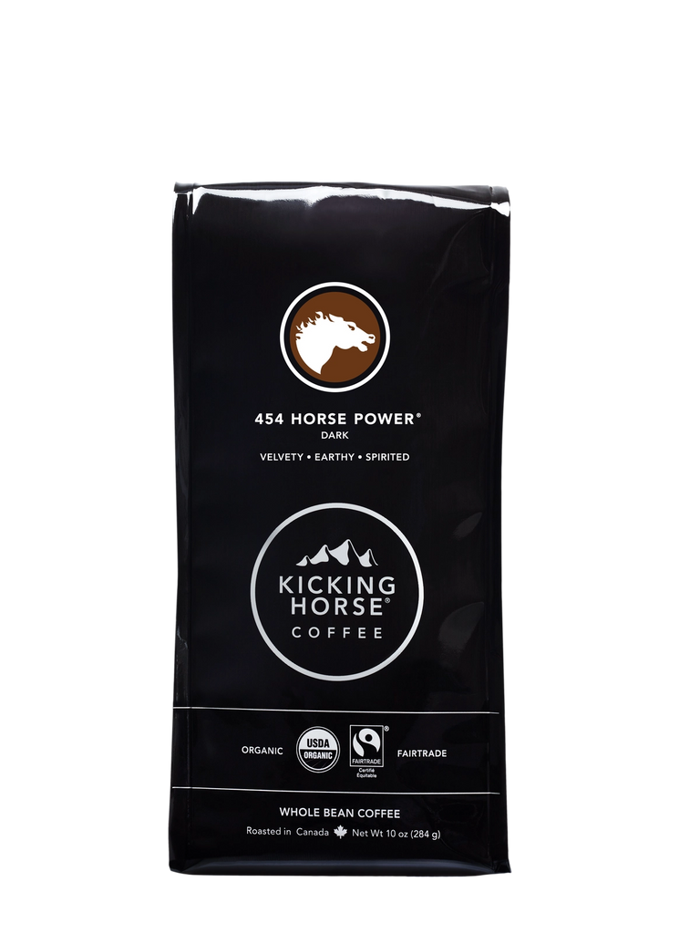 Kicking Horse Coffee - 454 Horse Power - Whole Bean Coffee - 10 oz