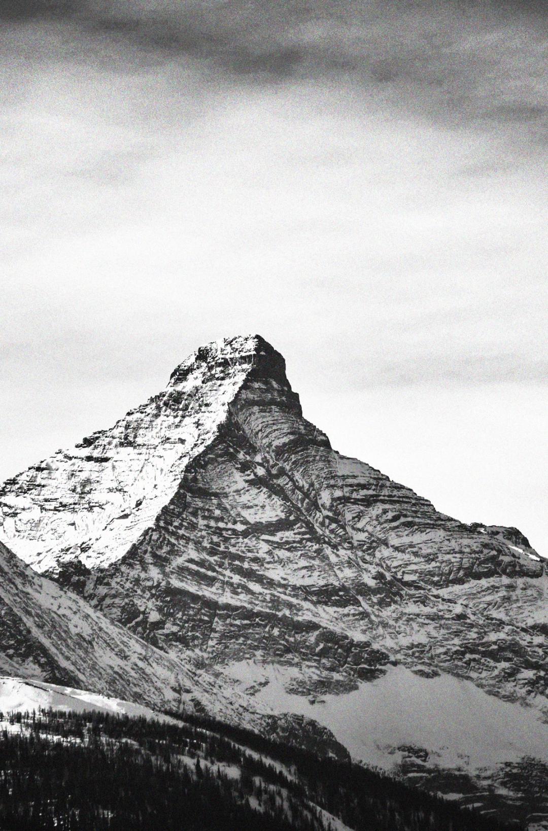 Large mountain peak