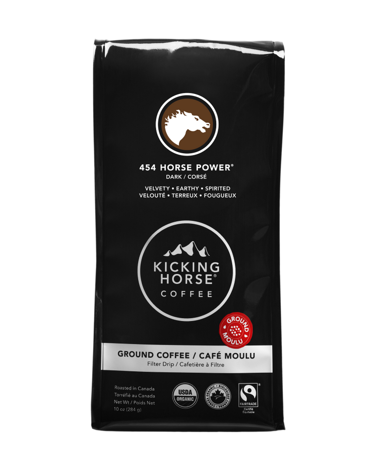 Kicking Horse Coffee - 454 Horse Power - Ground Coffee - 10 oz