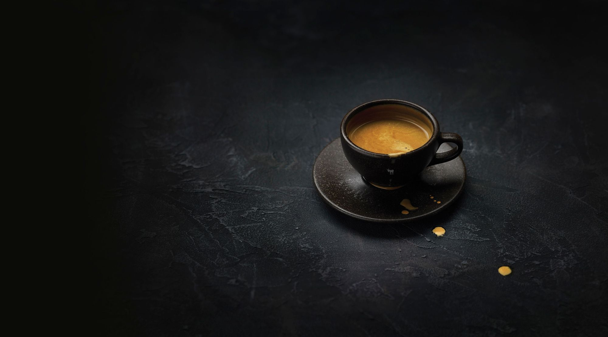 cup of espresso coffee with crema