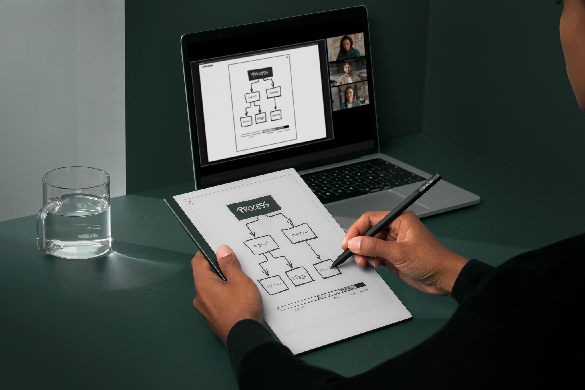 Write, draw, and demonstrate concepts live with Screen Share.