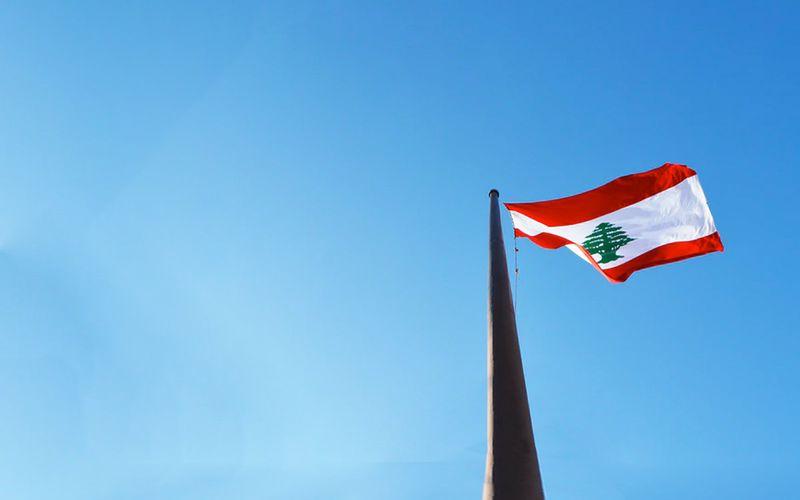 Beirut flag ina post