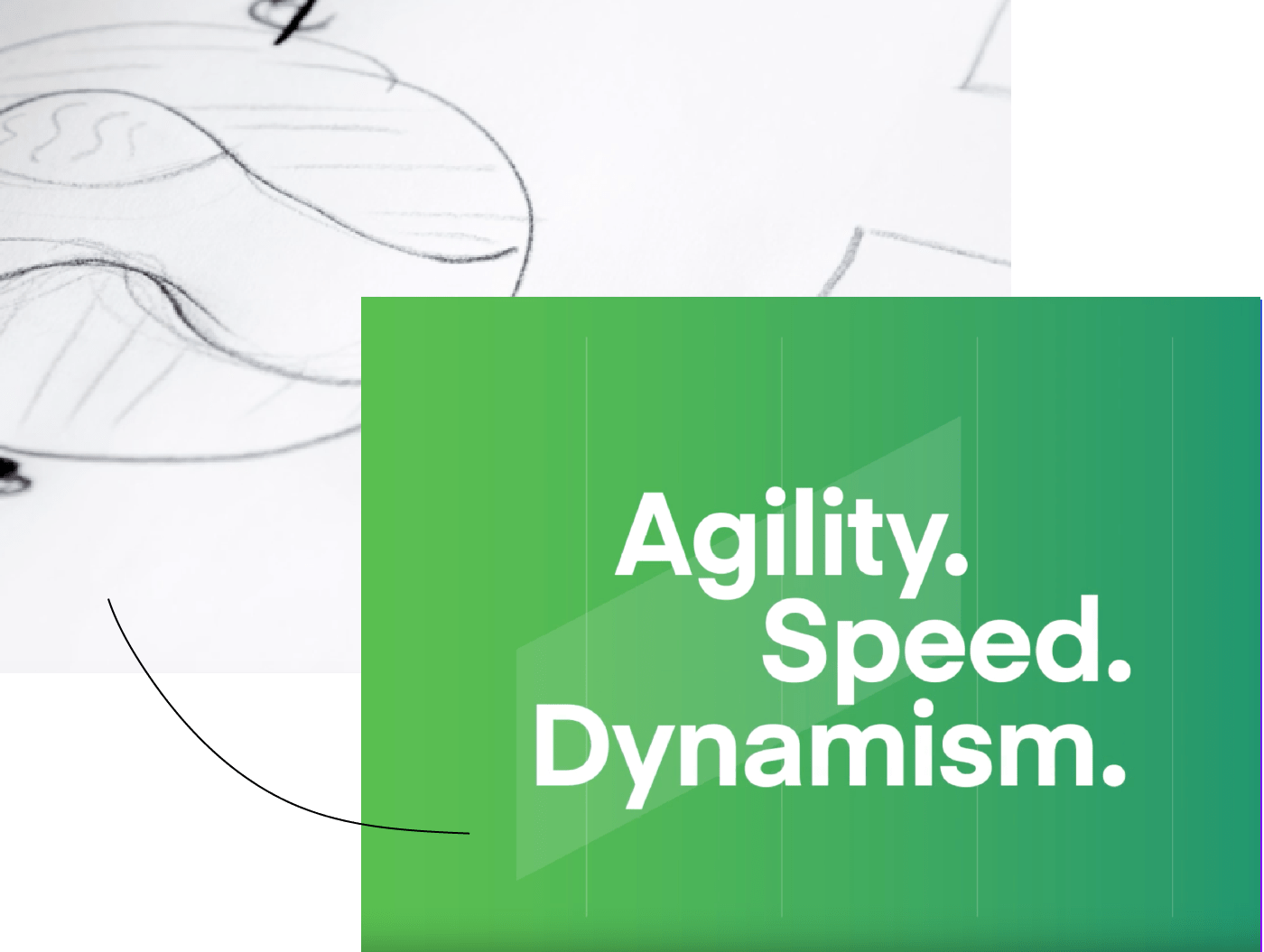 agility speed dynamism text image