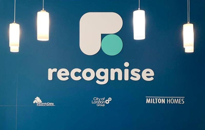 Recognise logo wall installation