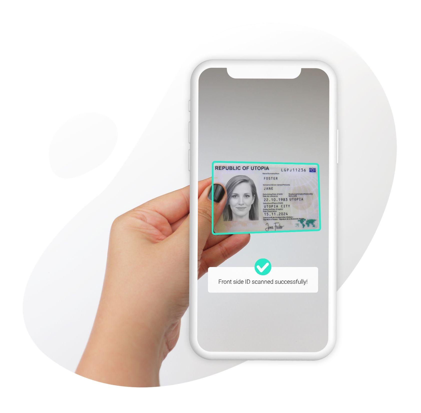 Scanning ID card using mobile phone