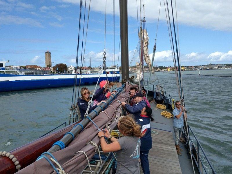Mambu team on the boat