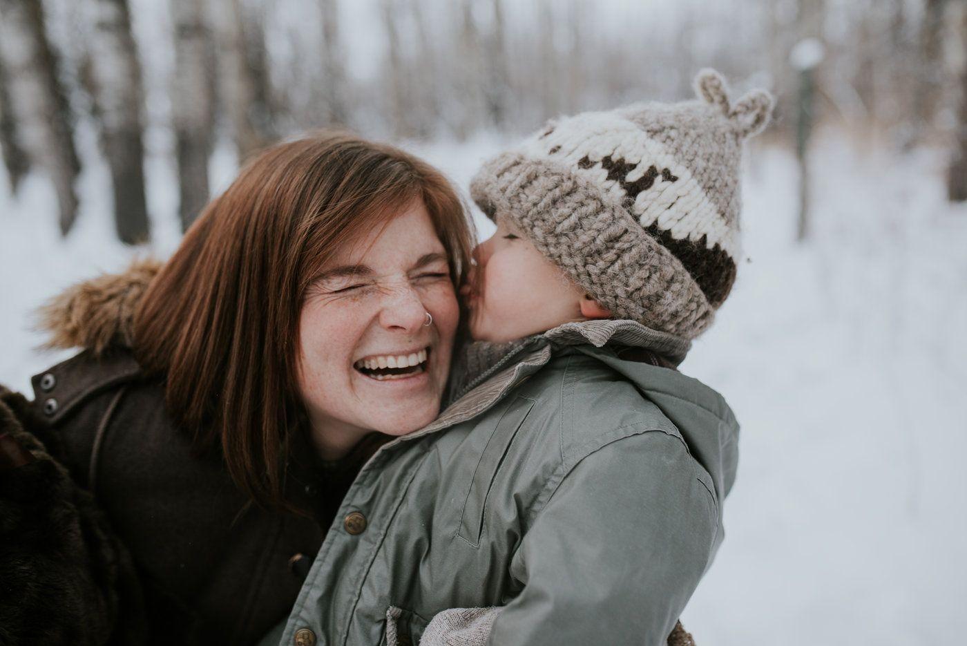 Brianna Sharpe and her son