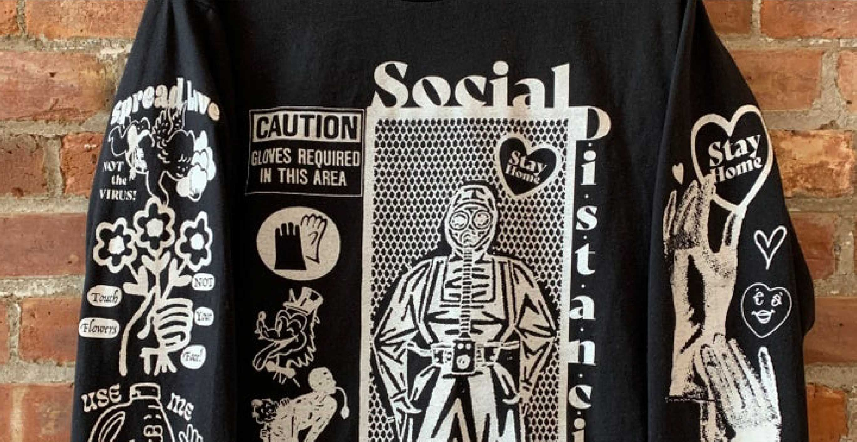 Social Distancing Black Long Sleeve