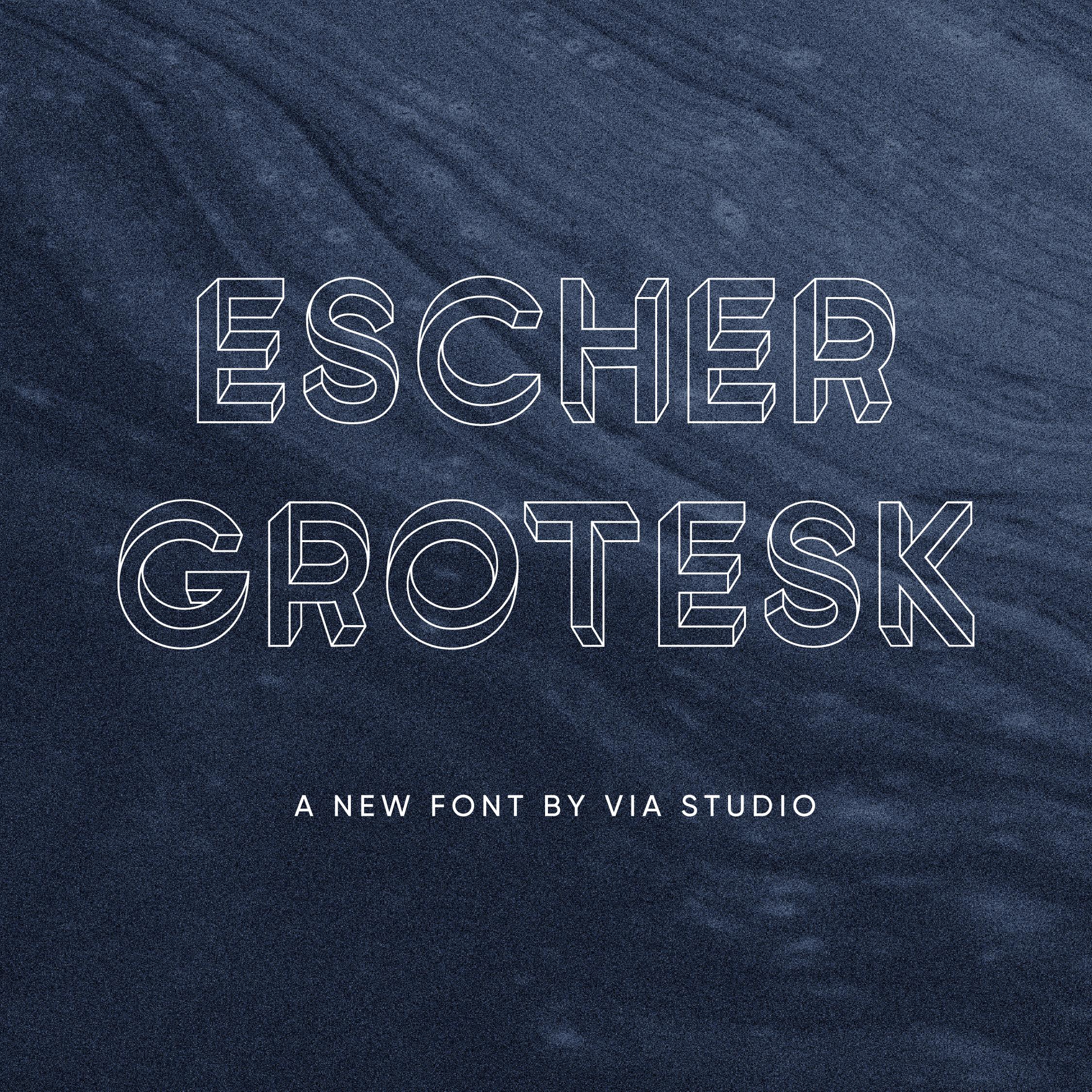 Preview of Escher Grotesk Typeface