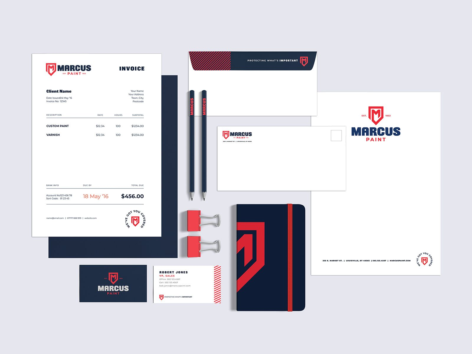 Marcus Paint Collateral