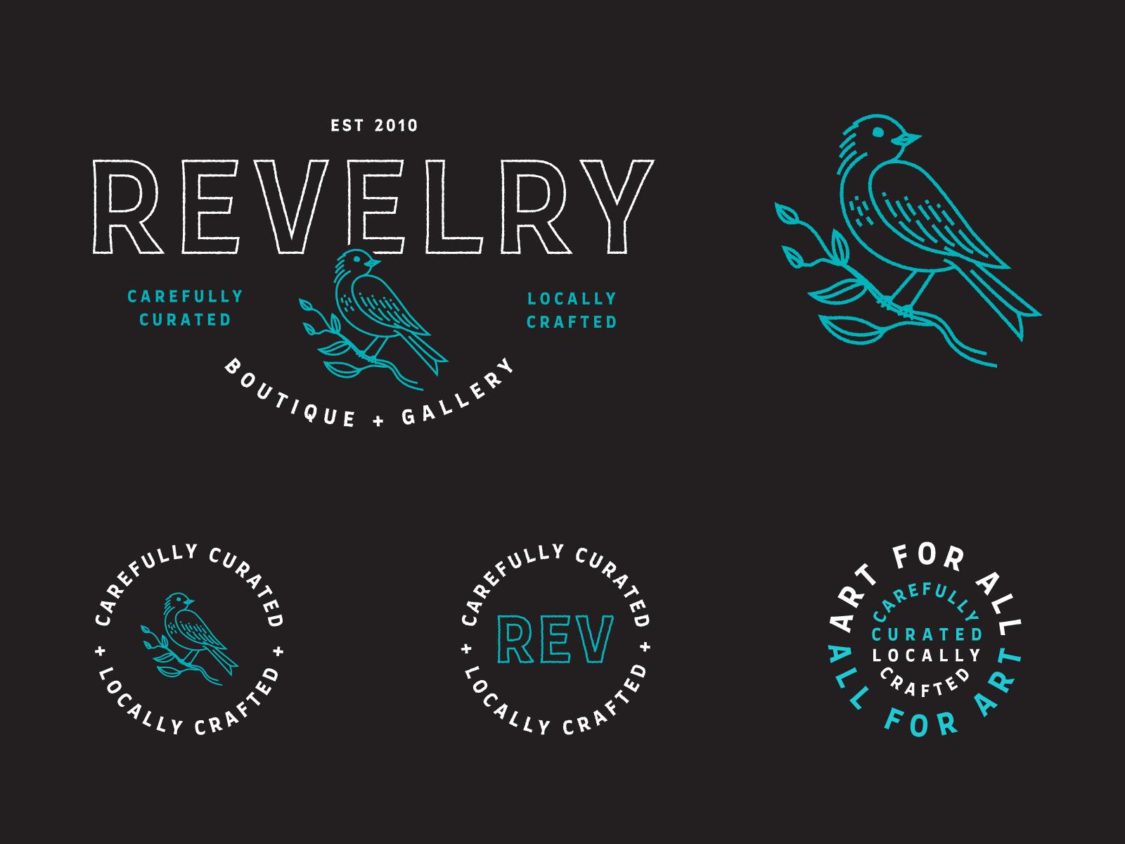 Revelry Brand Identity Marks