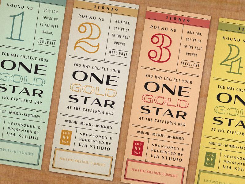Spelling Bee Ticket Designs