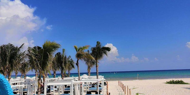 Beach view at Sandos Playacar