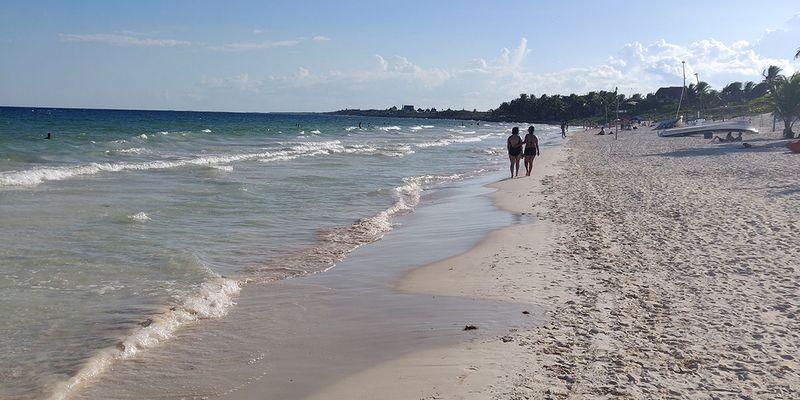Beach view at Pocna Tulum Beach Club