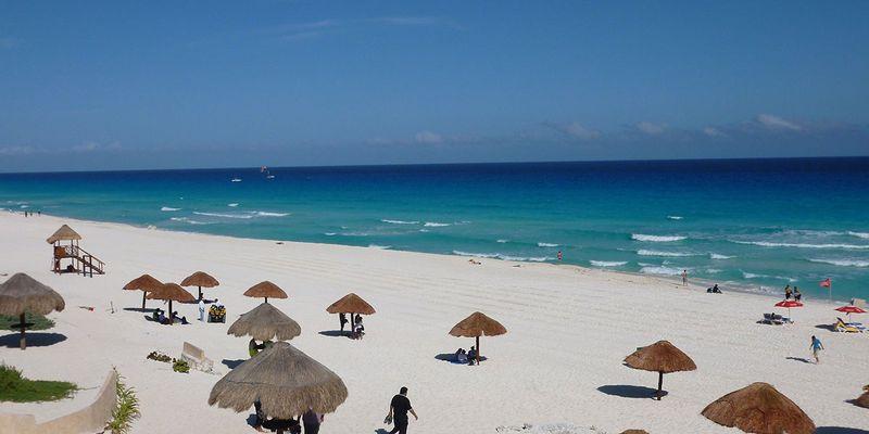Beach view at Playa Delfines