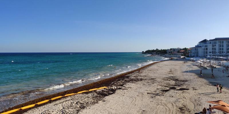 Beach view at Playacar Palace