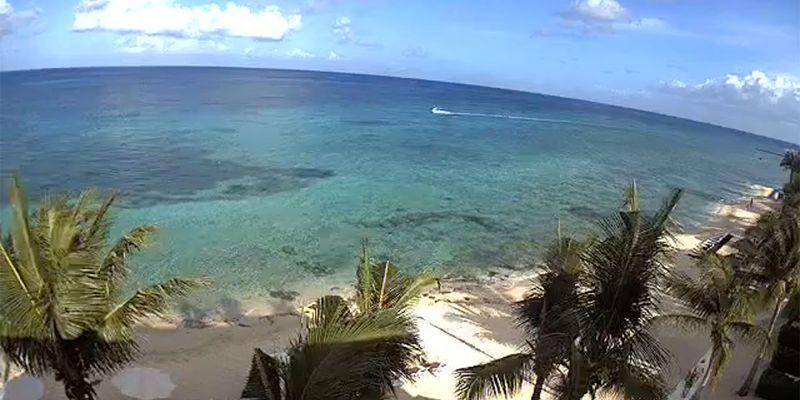 Beach view at Secrets Aura