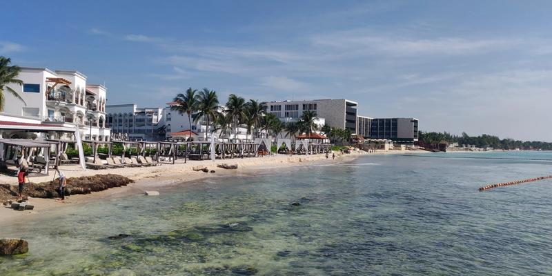 Beach view at Muelle Constituyentes