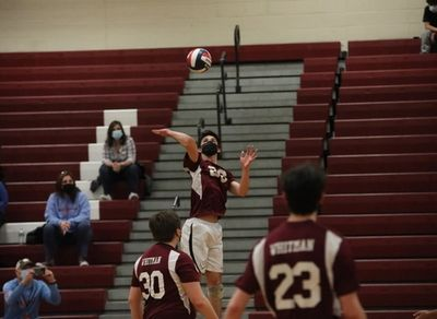 Captain Tom Biryla turned in excellent performances to help secure the win for Boys Varsity Volleyball against Half Hollow Hills at last Thursday's home game.