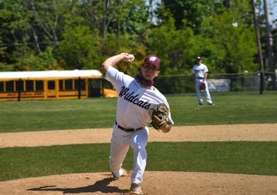 Congratulations to Walt Whitman's Grant Biederman on throwing a perfect game on Saturday, striking out 11 to shut out Hills East 5 - 0.