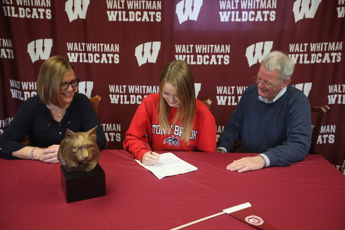 Senior Grace Weigele commits to running Track & Field for Stony Brook University next year.