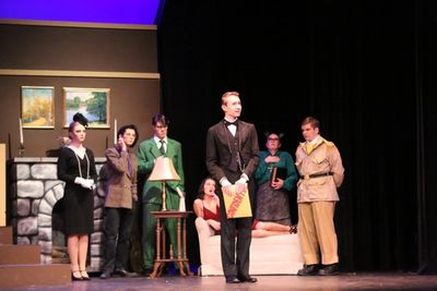 Josh Muellers, playing Mr. Boddy's butler Wadsworth, was nominated for Best Actor.