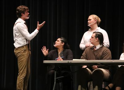 Theatre Honor Society members and new inductees performed the student run production of Twelve Angry Jurors on the night of the induction ceremony.