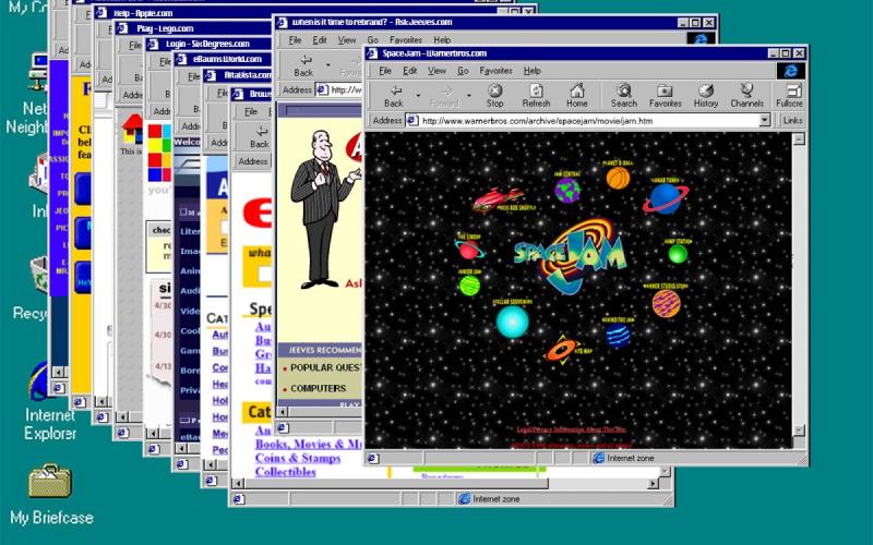 old windows computer desktop website window