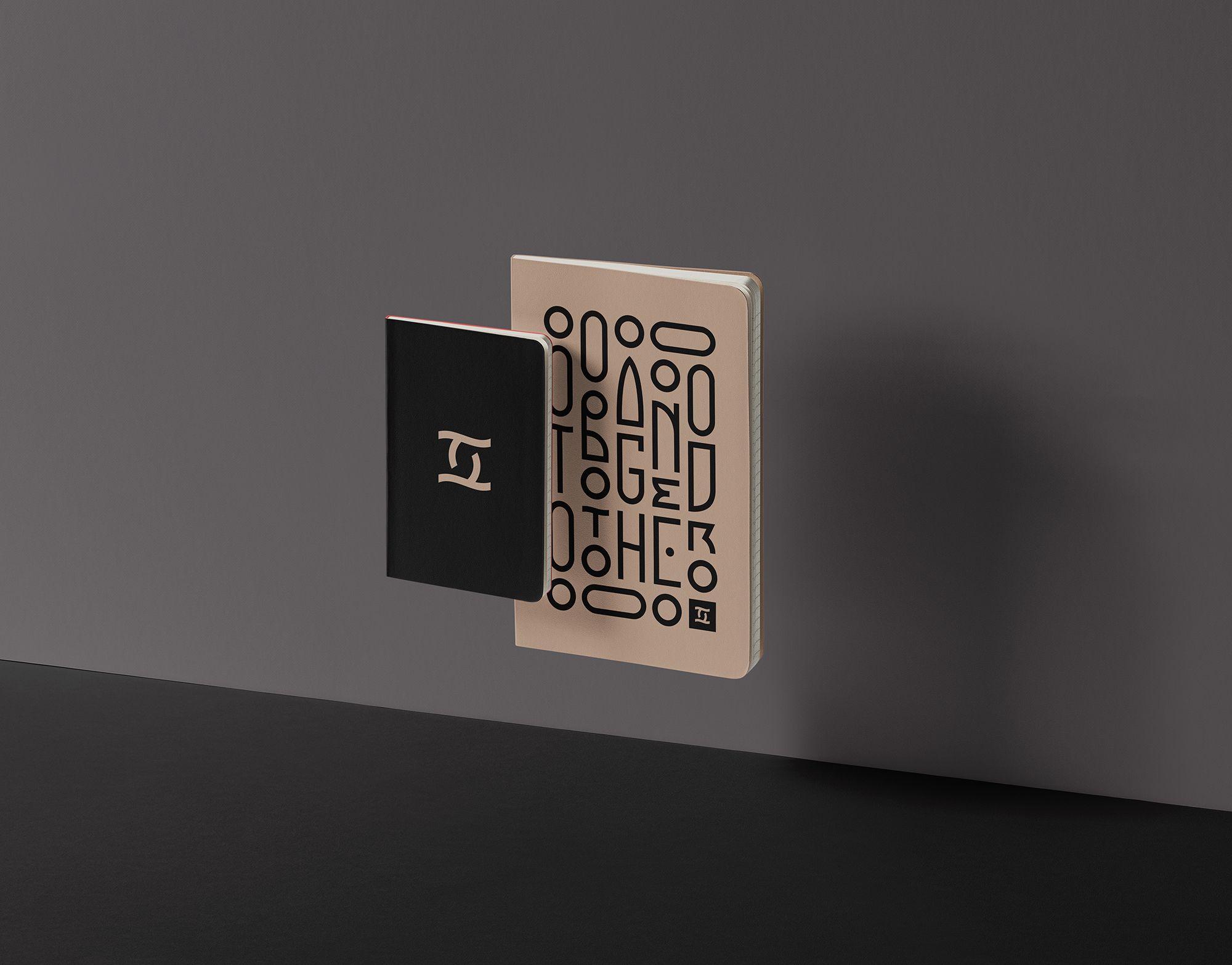 together agency brand logo notebook design