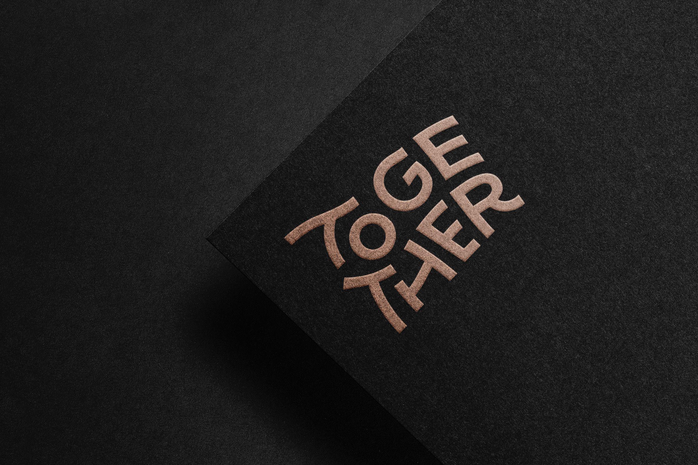 together agency brand logo letterhead print design