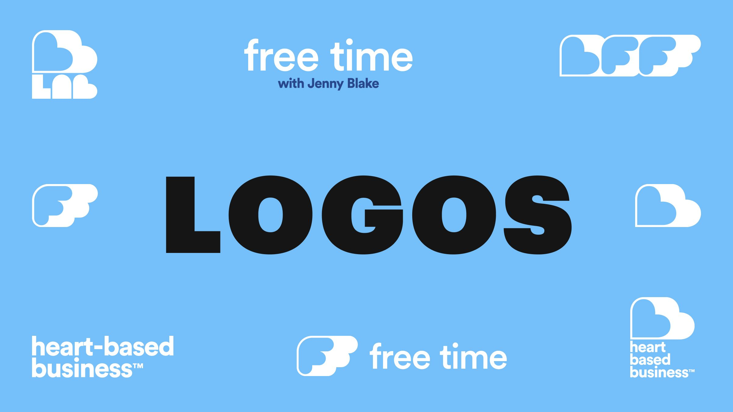 free time jenny blake brand logo design