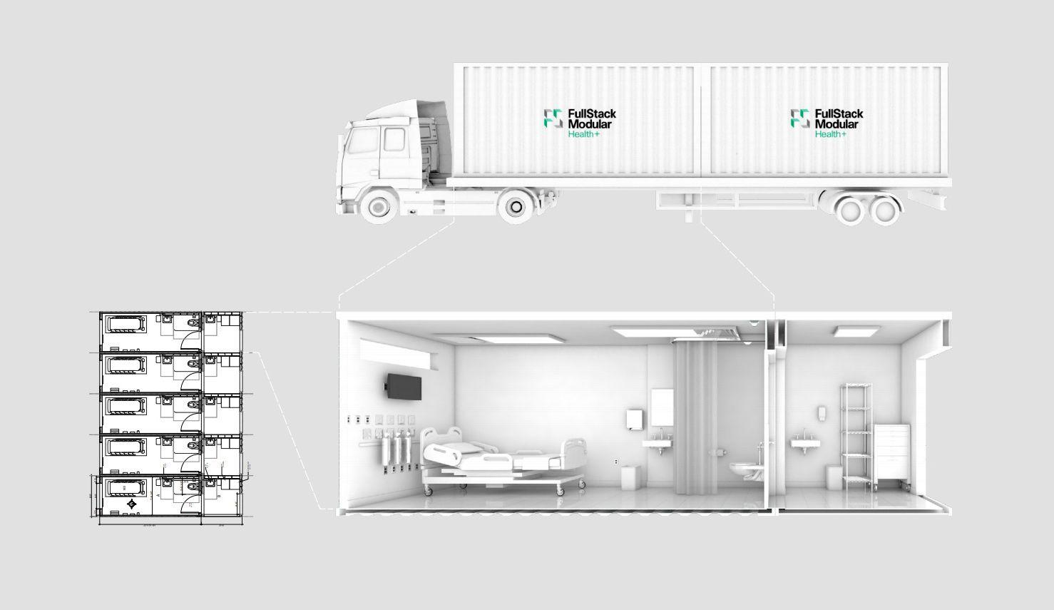 fullstack mobile isolation unit covid