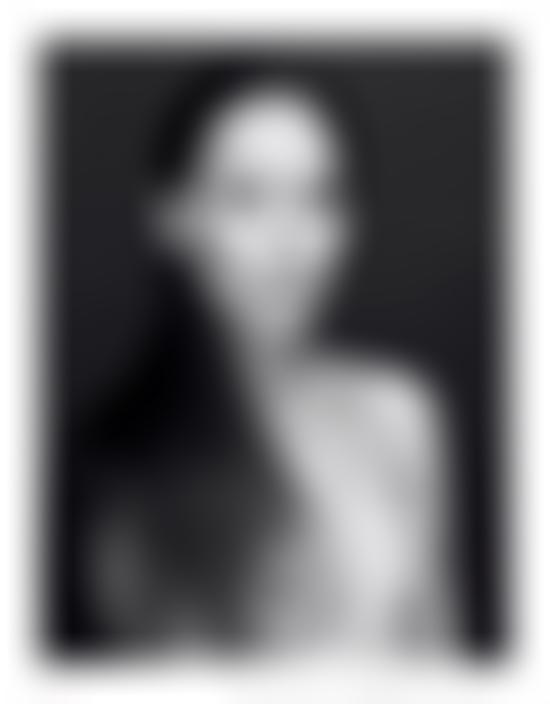 Lea T in black and white topless
