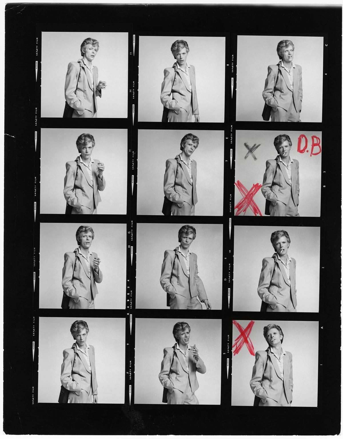 David Bowie contact sheet