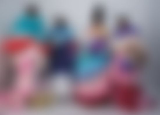Group picture of models wearing Tomo Koizumi dresses