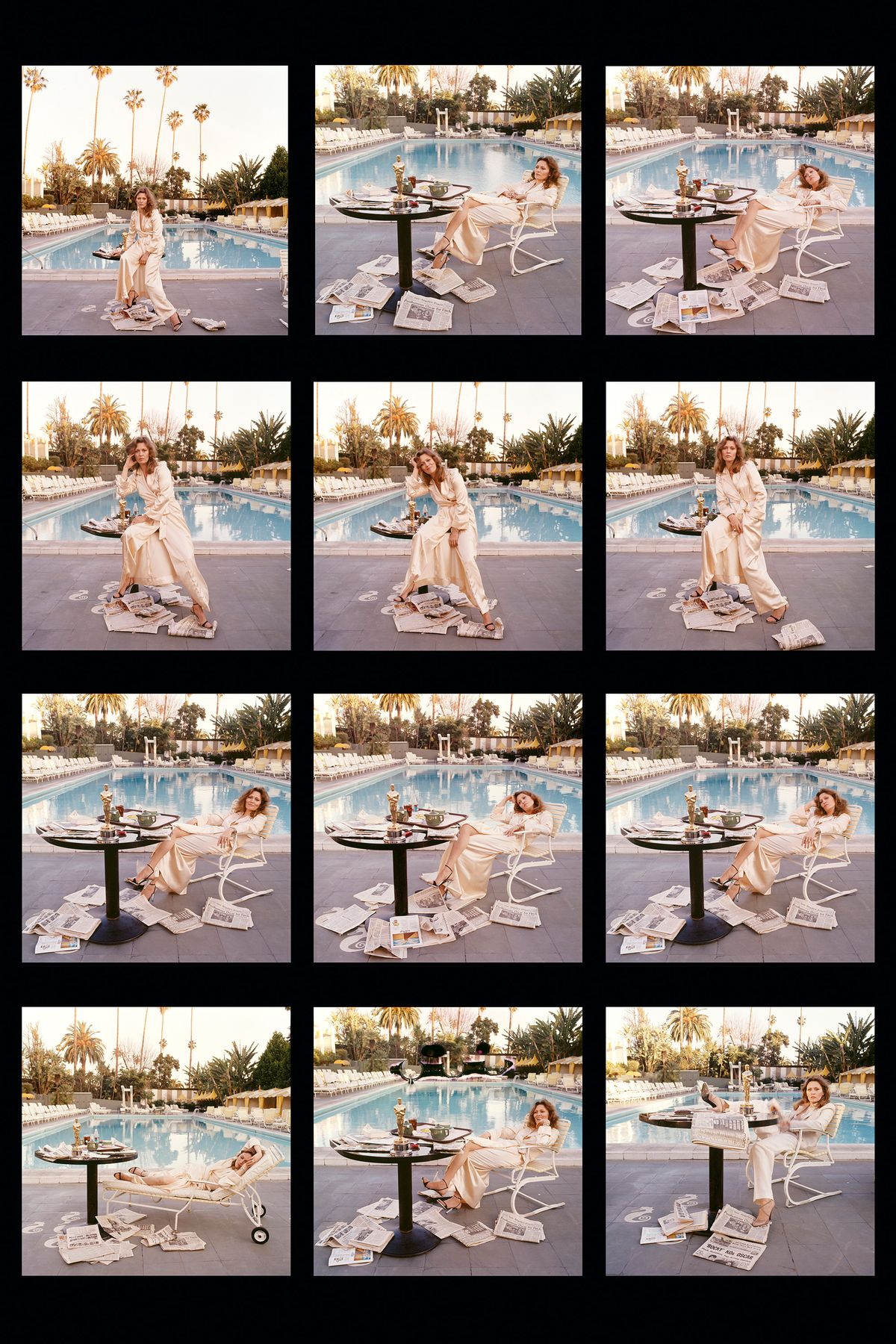 Contact sheet of Faye Dunway
