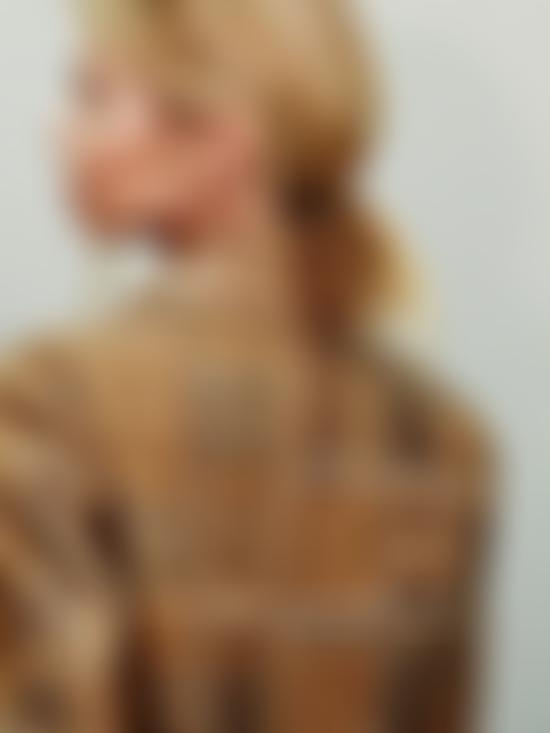 detail of jacket on model