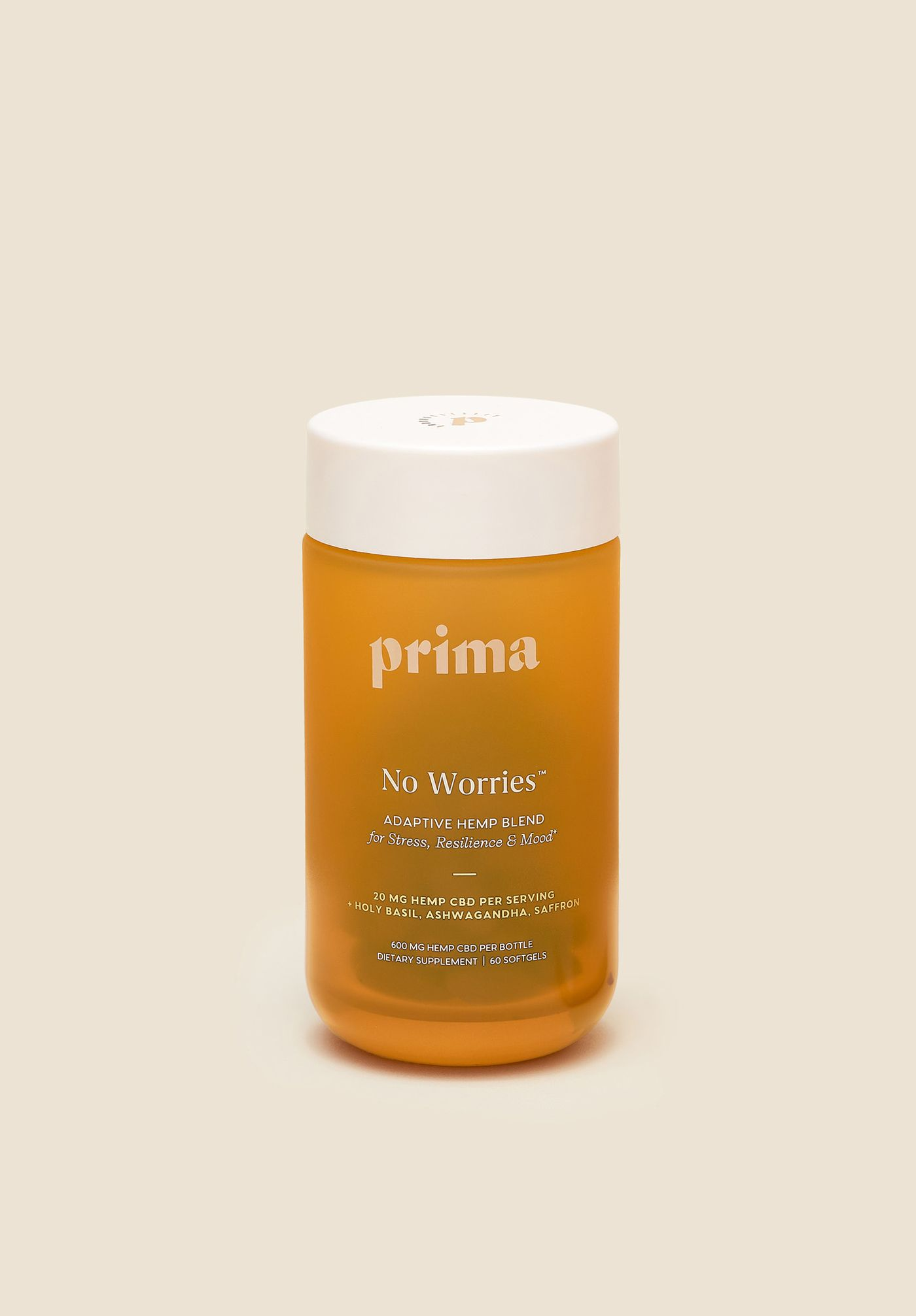 Prima No Worries™ 20mg CBD + Botanicals Capsules
